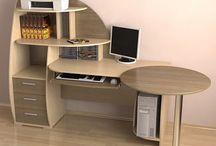 Компьютерные столы на заказ / Некоторые варианты компьютерные столов, изготовленных на заказ.