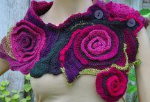 Crochet, knitting, tatting
