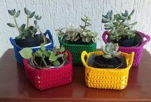 Peças decorativas de crochê