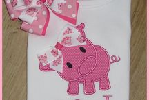 Pig Clothing / Shirts, pants, hats, socks, underwear, hair accessories, aprons, belt buckles, etc., other than specific baby clothing / by Cathy Iacono