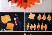 Dekorace z papíru podzim