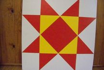 Barn Quilt Blocks / These wooden blocks are made to go out side your home, on your barn, fence or business. We all love quilts and so we want to start a quilt trail movement across America.
