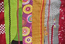 Fabric compositions, by Elena Gutiérrez Giulianotti / Recycled fabrick strips, by Elena Gutiérrez Giulianotti