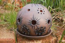 Keramika koule, svítilny
