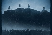 Haunting Illustrations of Star Wars, Lord of The Rings & Game of Thrones.