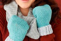 knitting - mittens and fingerless gloves