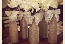 shabby jars and bottles