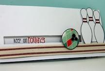 Ten pin bowling cards