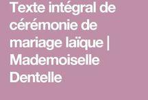 texte ceremonie