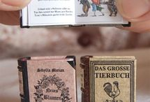 Miniature  books for the dollhouse.