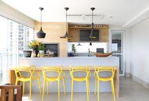 CHURRASQUEIRA / Projetos de churrasqueiras em varandas de casas ou apartamentos - por Karen Pisacane e equipe