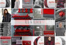 Red & Black / Descubre la #tendencia de color Katia Red & #Black para Otoño - Invierno 15/16   Discover Katia Red & Black #yarns colour #trend for #Autumn - #Winter 15/16   Découvrez la #tendance Katia  Red & Black pour Automne - #Hiver 15/16