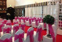 Hot pink wedding themes