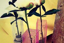 Bomboniere in rete / Bomboniere originali in rete metallica con fiori e candele