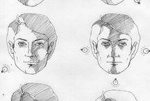Emberi arc megvilágításai