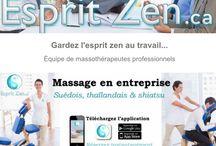 Massage corporatif Esprit Zen / massage sur chaise