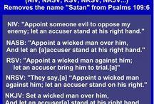 Comparison of bibles versions