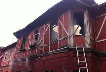 17 casas destruidas dejó incendio en el Barrio Yungay / Un incendio estructural de proporciones se registró en la intersección de calle Esperanza y Romero, Barrio Yungay, en la comuna de Santiago.