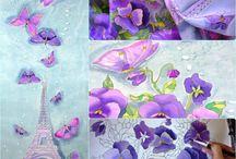 Pintura sobre seda / by Marta Batalla