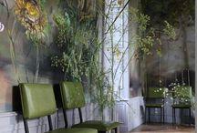 GREEN - VERT - VERDE - Handpaintes wallsGROEN