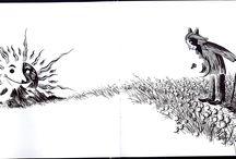 Caminito a Samaín / An Inktober Project. Inktober Spain 2015. Un dibujo a tinta al día durante el mes de octubre. 31 días, 31 dibujos hasta el pancéltico Samhain, Samaín en el norte de España.