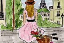 niña en paris