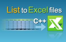 Excel Library | C++ Tutorials / Excel file manipulation in C++ - best practices for export data to Excel, import data from Excel and formula calculation