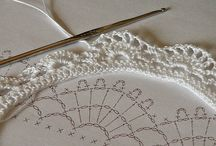 Crochéted lace edging