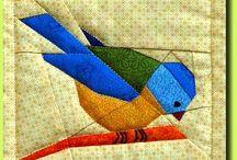 paper pieced birds