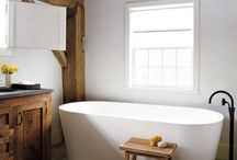 room with a tub