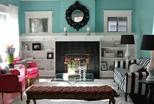 Home Decor / My home decor tastes include colorful and cheerful Bohemian (Boho); clean Belgian style with rustic natural wood and stone, cement and crystal chandeliers; Romantic, shabby cottage chic with chippy vintage painted furniture and lace; and Eclectic, given all of my interests! / by Christina Mendoza