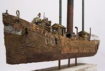ARCHIMEDES / Ships, water, gravity - any floating object displaces its own weight of fluid