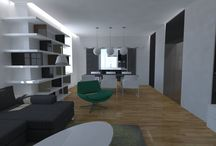 Modern Interior Design / Complete renovation of an old 120m2 apartment.