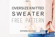 Knitted women sweater