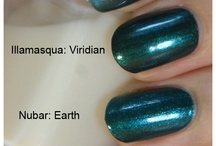 Teal&Turquoise polishes