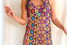 Crochet floral motifs