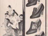 Vintage. Clothes. Shoes. Figures.