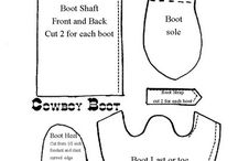 fondant boot patten