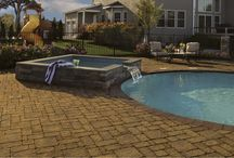 The Renaissance Collection / Each of the five shapes in this collection features a heavily textures surface. Their modular configurations allow for unlimited random placement and running bond patterns as well as unique border and banding treatments. / by Cambridge Pavingstones with ArmorTec