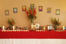 Altar / We have an altar at each event that invites each person to add their own personal pieces. Photos of altar's from events, personal altar's and objects you may find on the altar's.