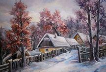 téli tájképek