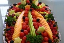 Charolas de fruta