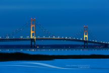 Mackinac Bridge / Photos of the Mackinac Bridge linking lower Michigan and the Upper Peninsula