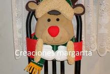 adornos navideños para sillad