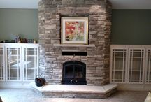 wood fireplace ideas / installed by Great American Fireplace