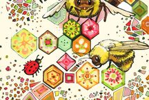 patchwork illustrations