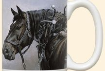 Horse Cups / Here are our unique range of Mugs. They are hand printed in the USA by Fiddler's Elbow who take pride both in the quality of their manufacture and for commissioning the artists to create these unique designs.