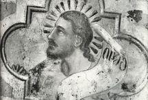 Андреа Орканья / Итальянский живописец, скульптор, архитектор  14 века. Формирование Орканьи происходило под сильным влиянием последователей Джотто, великого флорентийского художника, умершего в 1337 году (то есть когда Андреа Орканье было почти 30 лет). Предполагали, что как живописец Андреа начинал в мастерской Бернардо Дадди, однако уже в первых известных произведениях Орканьи видна его связь с искусством Мазо ди Банко, возможно, наиболее ортодоксального последователя Джотто.