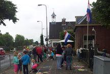 Straattekenen Oude Wetering / Vanmiddag was het straat tekenfestival in Oude Wetering