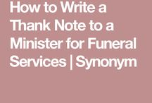 thank you to minister